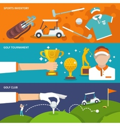 Golf banner set vector image