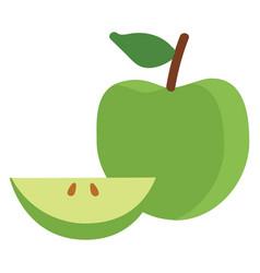 Granny smith apple vector