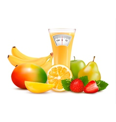 Group of healthy fruit Diet concept vector image