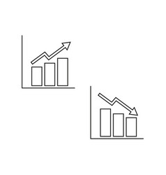 growing falling schedules icons vector image
