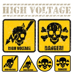 high voltage vector image
