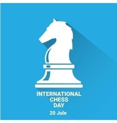 International chess day background chess vector