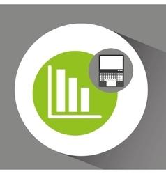Laptop technology statistics graphics vector