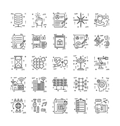 Line Icons With Detail 22 vector image