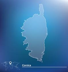 Map corsica vector