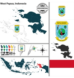 Map of West Papua vector image