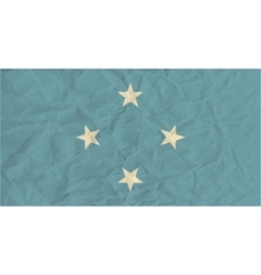 Micronesia paper flag vector image