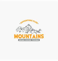 Mountains logo-badge-18 vector
