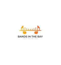 music bands in bay logo design vector image