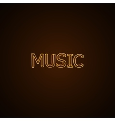 Music neon sign vector