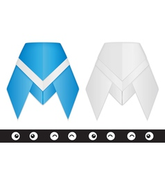 Origami cicada creation kit vector
