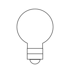 Outline light bulb energy object style vector