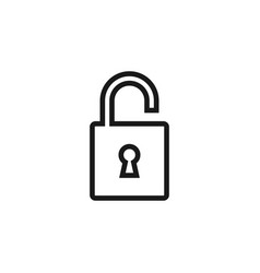 padlock icon design template isolated vector image
