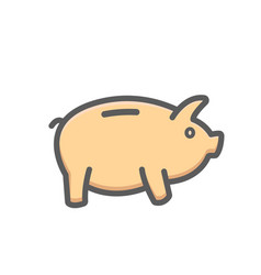 piggy icon bank banking earning money savings vector image