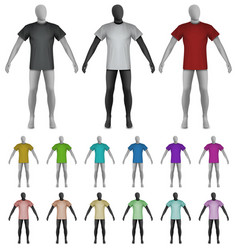 Plain shirt on mannequin torso template vector