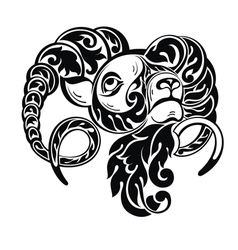 Ram sheep in tattoo style vector image