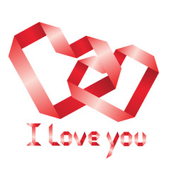Ribbon i love you vector