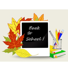 school background with a pencil on a background of vector image