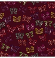 Seamless pattern with gradient butterflies vector