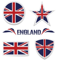 Set of british icons vector