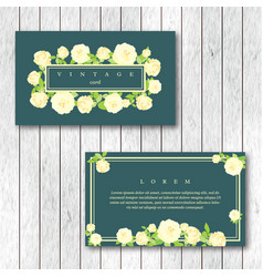 set of vintage horizontal business cards template vector image