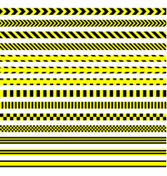 Set safety tapes warning stripes vector
