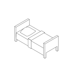 Single bed icon isometric 3d style vector