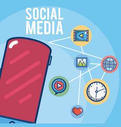 social media cartoons vector image