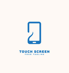 Touch screen logo vector