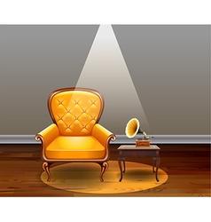 Vintage room vector