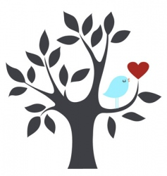 bird and tree vector image vector image