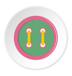Colorful clothing button icon circle vector