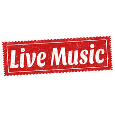 live music sign or stamp vector image