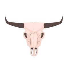 Longhorn cow skull head vector image