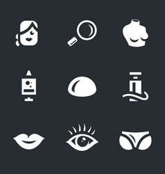 set of plastic surgery icons vector image