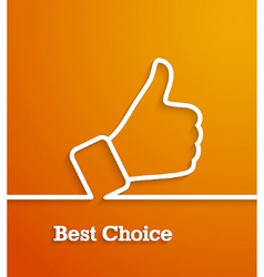 Thumb up paper sign vector image