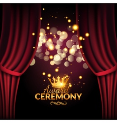 Award ceremony design template Award event with vector image