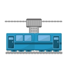 blue train cabine vacation travel vector image