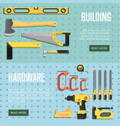 building tools website templates for store vector image