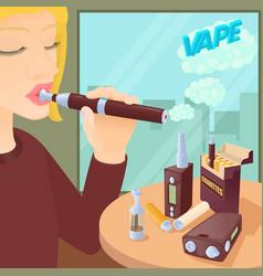 e-cigarettes concept cartoon style vector image