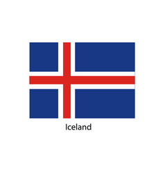 iceland flag official colors and proportion vector image vector image
