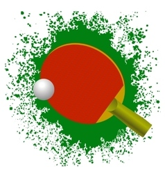 Red Tennis Racket and Plastic Ball vector image vector image