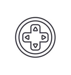 round joystick line icon sig vector image