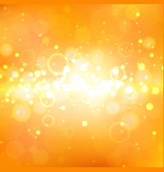 shining orange background with light effects vector image vector image