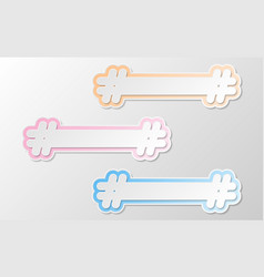 White hashtag twitter icon vector