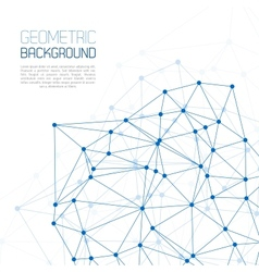 Blue Molecule And Communication Background vector image