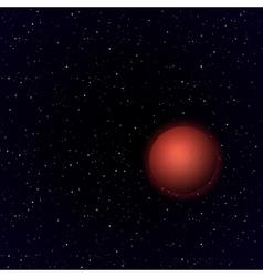Cartoon Mars in open space vector image vector image