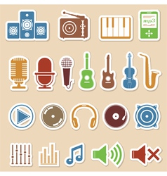 Musical Icons vector image vector image