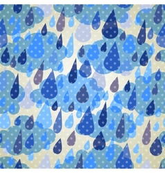 Seamless pattern with clouds and rain with dots vector image vector image