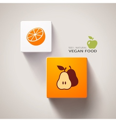 Vegan food concept vector image vector image